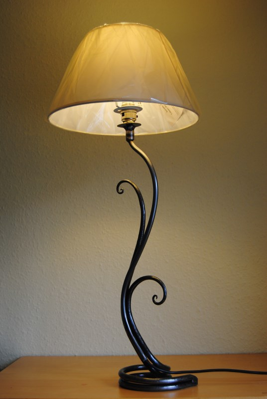 Forge Wrought Iron Table Lamp Fern